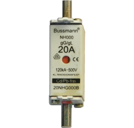 20NHG000B Bussmann NH Dual Indication Fuse Links 20Amp