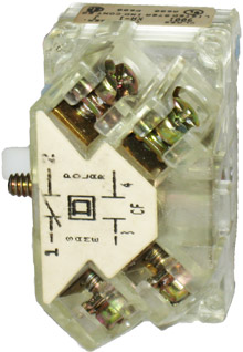 9001KA1 Fingersafe Contact Block, Square D, NOS