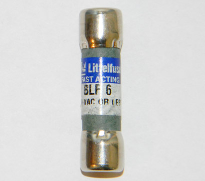 BLF-6 Fast Acting Littelfuse Fuse 6Amp