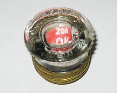 XV-22 20Amp Eagle Fast Acting Plug Fuse NOS