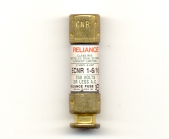ECNR-1-6/10 Class RK5 1-6/10Amp Reliance Fuse - USED