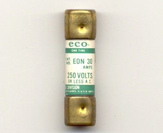 EON-30 Economy One-Time Fuse 30Amp NOS