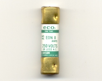 EON-8 Economy One-Time Fuse 8Amp NOS