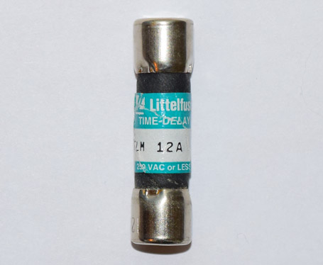 FLM-12 Time-Delay 12Amp Littelfuse Fuse, USED