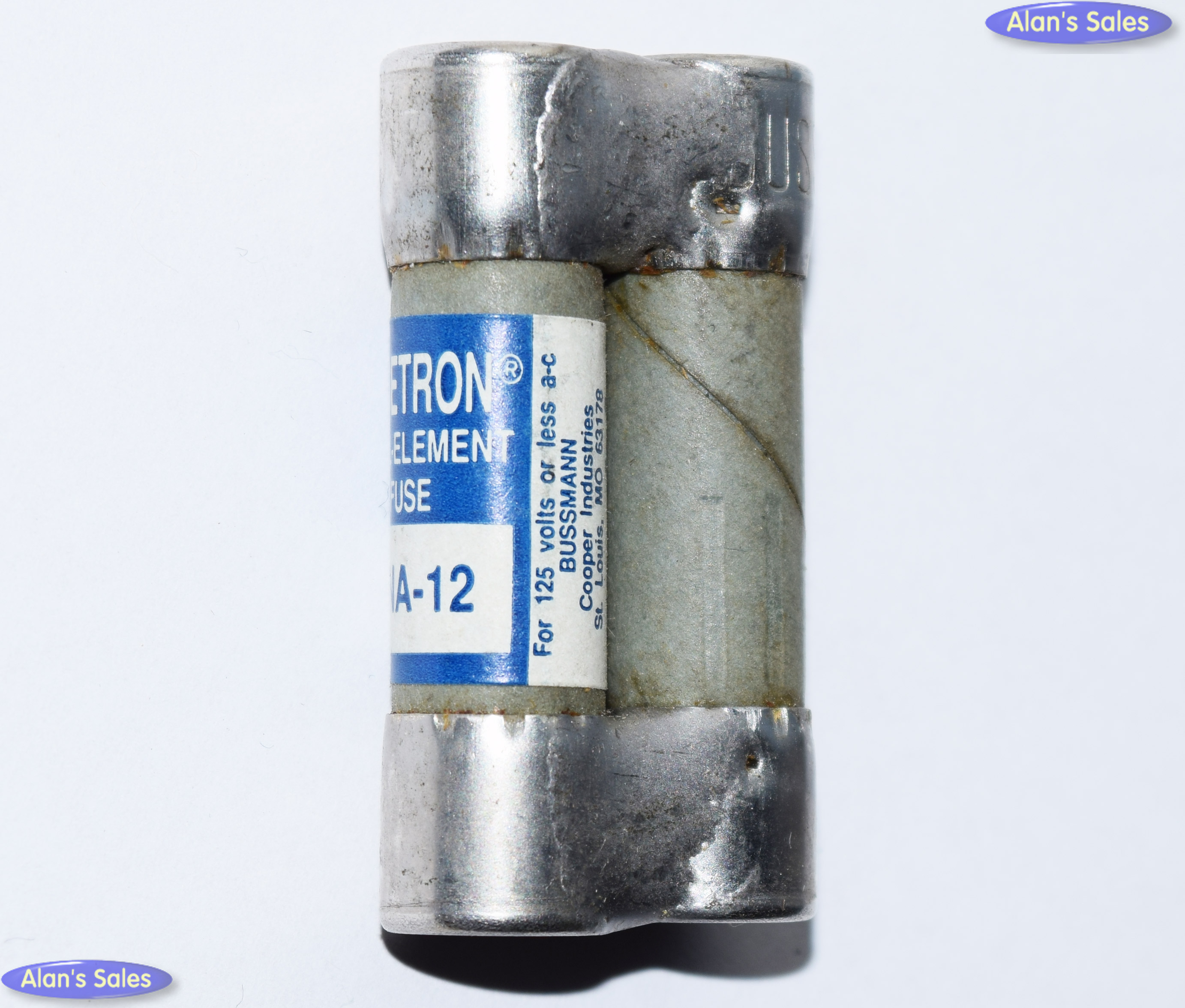 FNA-12 Pin Indicate Dual-Tube Bussmann Fusetron Fuse 12Amp