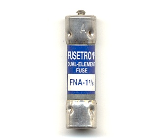 FNA-1-1/8 Pin Indicating Time-Delay Bussmann Fuse 1-1/8Amp