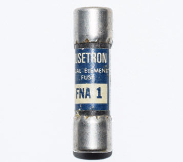 FNA-1 Pin Indicating Time-Delay Bussmann Fuse 1Amp USED