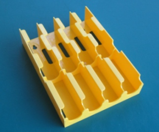 Fuse Storage - Dispenser For Buss Fuse Tins, Yellow - USED