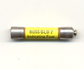 GLD-2 Bussmann Pin Indicating Fuse 2Amp, 1 each, NOS