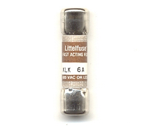 KLK-6 Littelfuse Fast Acting Fuse 6Amp NOS