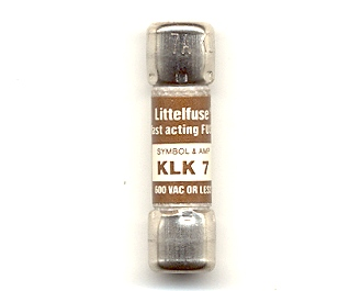 KLK-7 Littelfuse Fast Acting Fuse 7Amp NOS