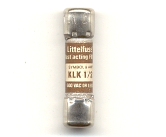 KLK-1/2 Littelfuse Fast Acting Fuse 1/2Amp NOS