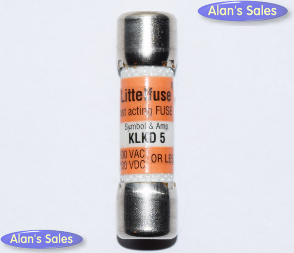 KLKD-5 Littelfuse Fast Acting Fuse 5Amp NOS