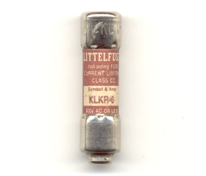 KLKR-6 Fast-Acting Littelfuse Class CC 6Amp NOS