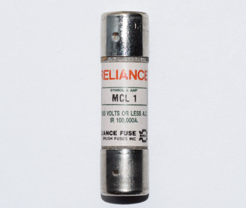 MCL-1 Fast-Acting Reliance Fuse 1Amp NOS