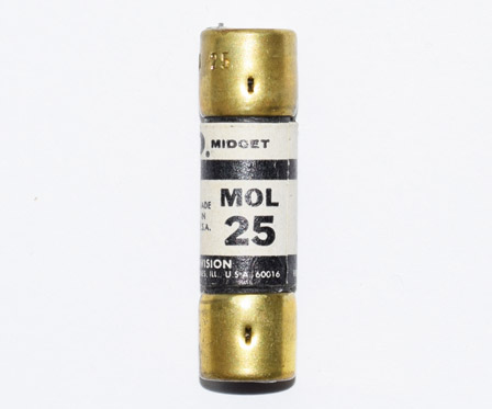MOL-25 One-Time Economy Fuse 25Amp NOS